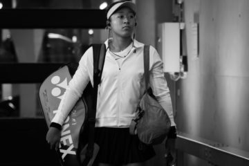 Naomi Osaka in the quarter-final of the Porsche Tennis Grand Prix, Stuttgart 2019