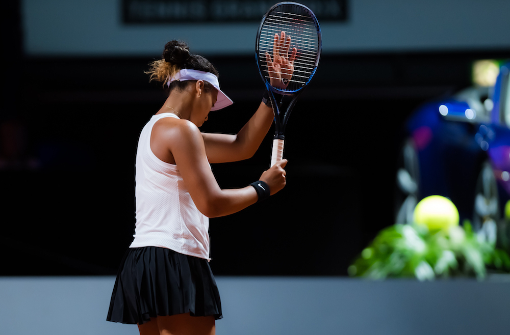 Naomi Osaka in the second round of the Porsche Tennis Grand Prix, Stuttgart 2019