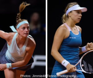 Petra Kvitova and Anett Kontaveit, who will face each other in the final of the Porsche tennis Grand Prix, Stuttgart 2019