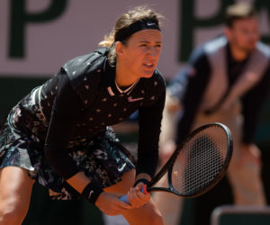 Victoria Azarenka in the first round of Roland Garros 2019, France