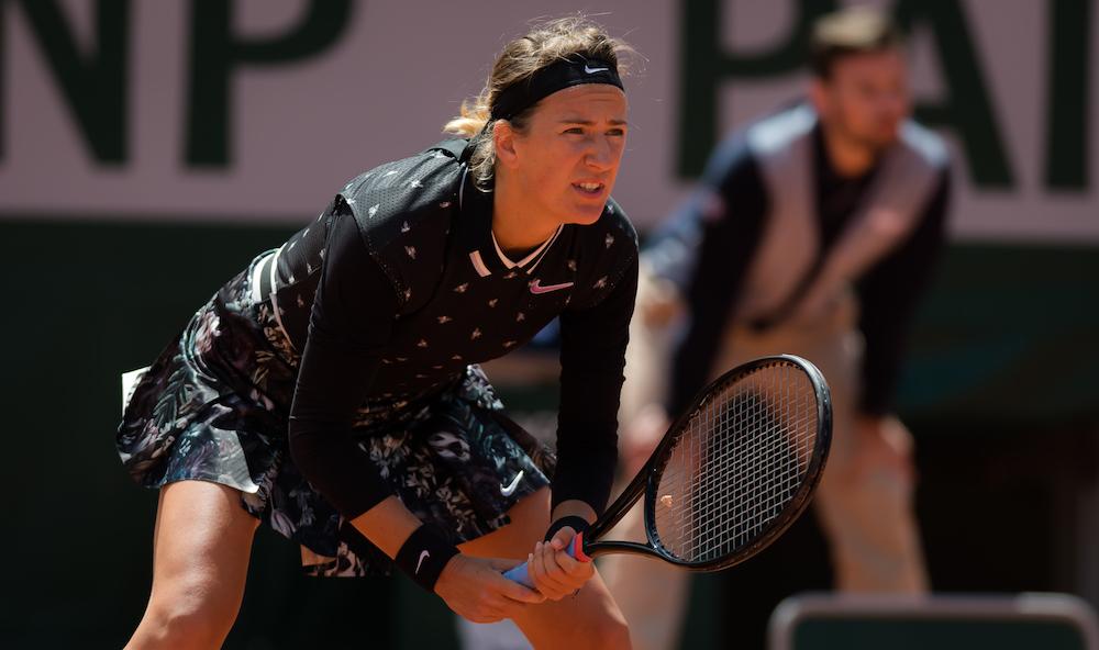 Victoria Azarenka in the first round of Roland Garros 2019, France