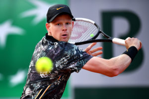 Kyle Edmund in the first round of Roland Garros 2019, France