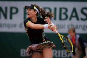 Johanna Konta in the second round of Roland Garros 2019, France