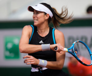 Garbine Muguruza in the first round of Roland Garros 2019, France
