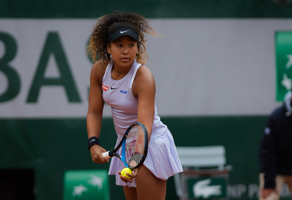 Naomi Osaka in the first round of Roland Garros 2019, France