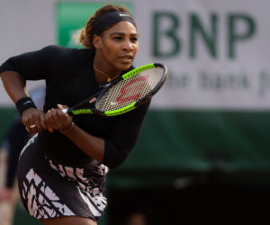 Serena Williams in the first round of Roland Garros 2019, France