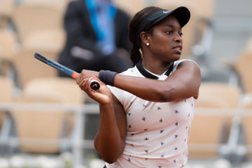 Sloane Stephens in the second round of Roland Garros 2019, France