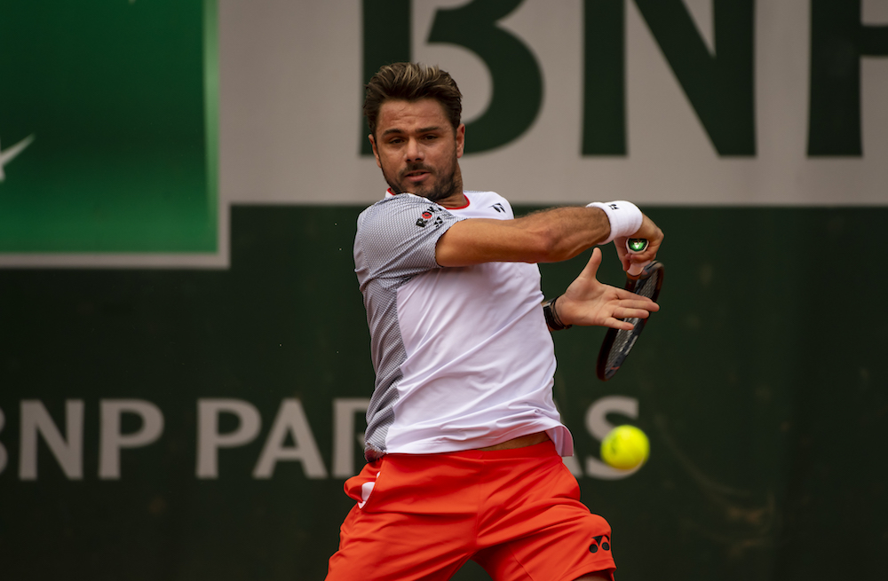 Stan Wawrinka in the second round of Roland Garros 2019, France