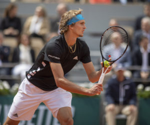 Alexander Zverev in the first round of Roland Garros 2019, France