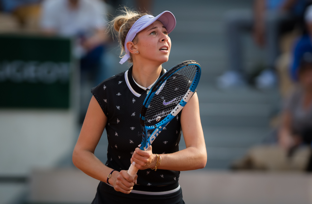 Amanda Anisimova in the fourth round of Roland Garros 2019, France