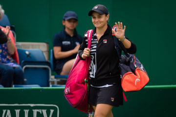 Ashleigh Barty in the quarter-final of the Nature Valley Classic, Birmingham 2019
