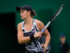 Ashleigh Barty in the first round of the Nature Valley Classic, Birmingham 2019
