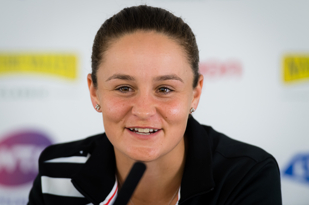 Ashleigh Barty after her first round win at the Nature Valley Classic, Birmingham 2019