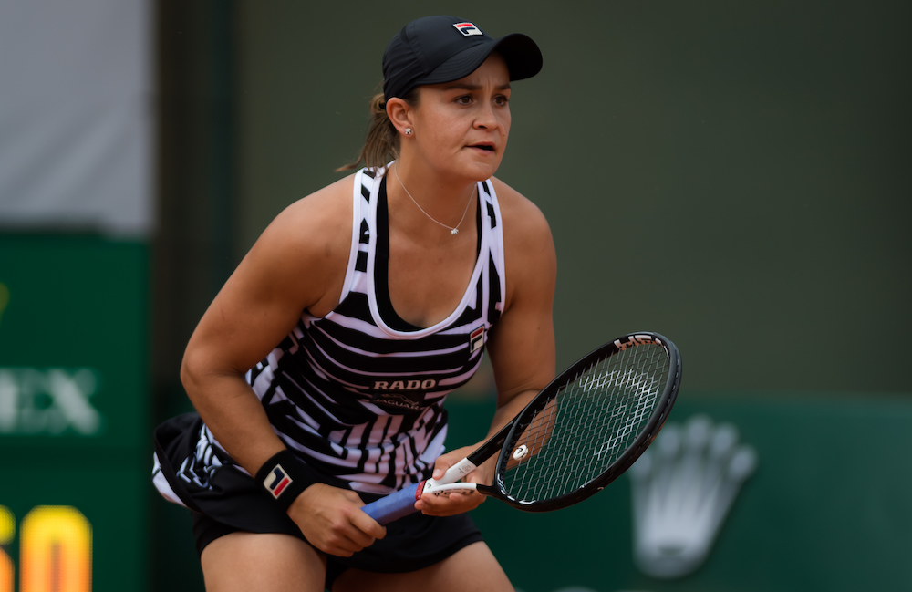 Ashleigh Barty in the first round of Roland Garros 2019, France