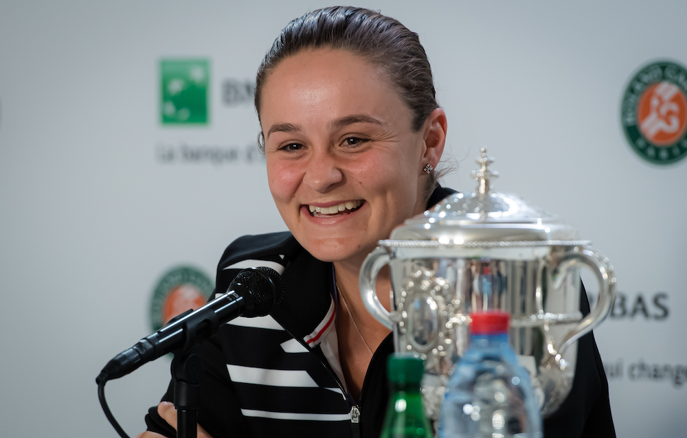 Ashleigh Barty after winning Roland Garros 2019. France