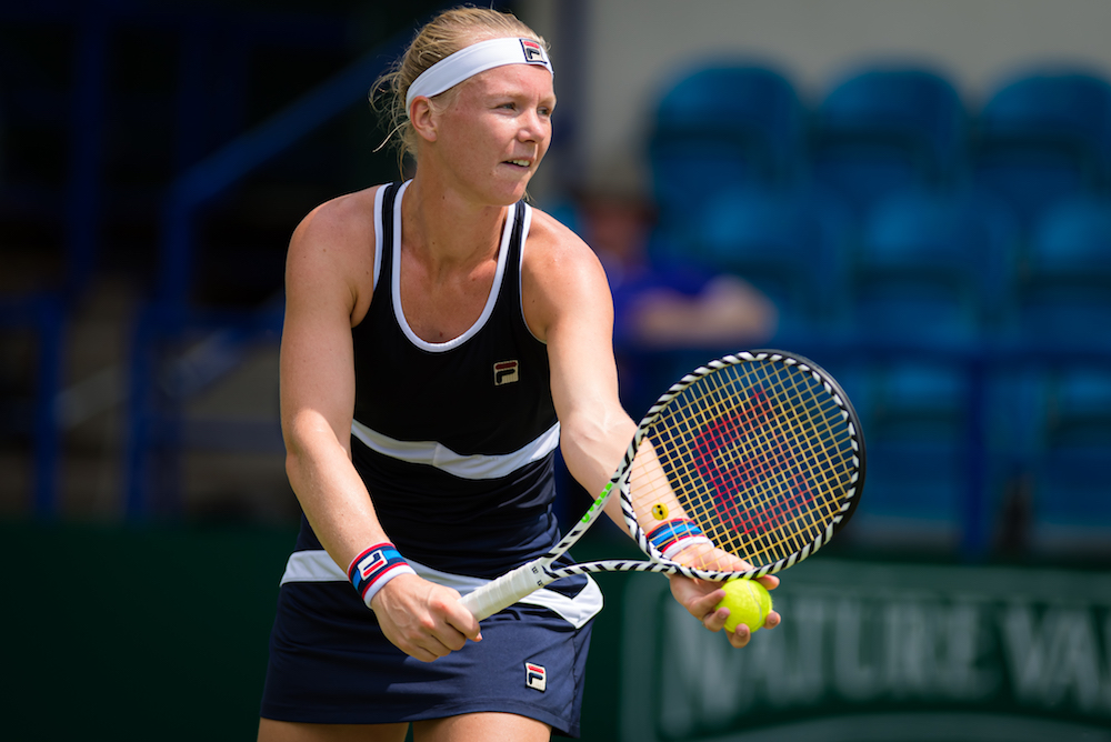 Kiki Bertens in the second round of the Nature Valley International, Eastbourne 2019