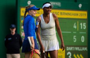 Harriet Dart and Venus Williams in the Nature Valley Classic, Birmingham 2019