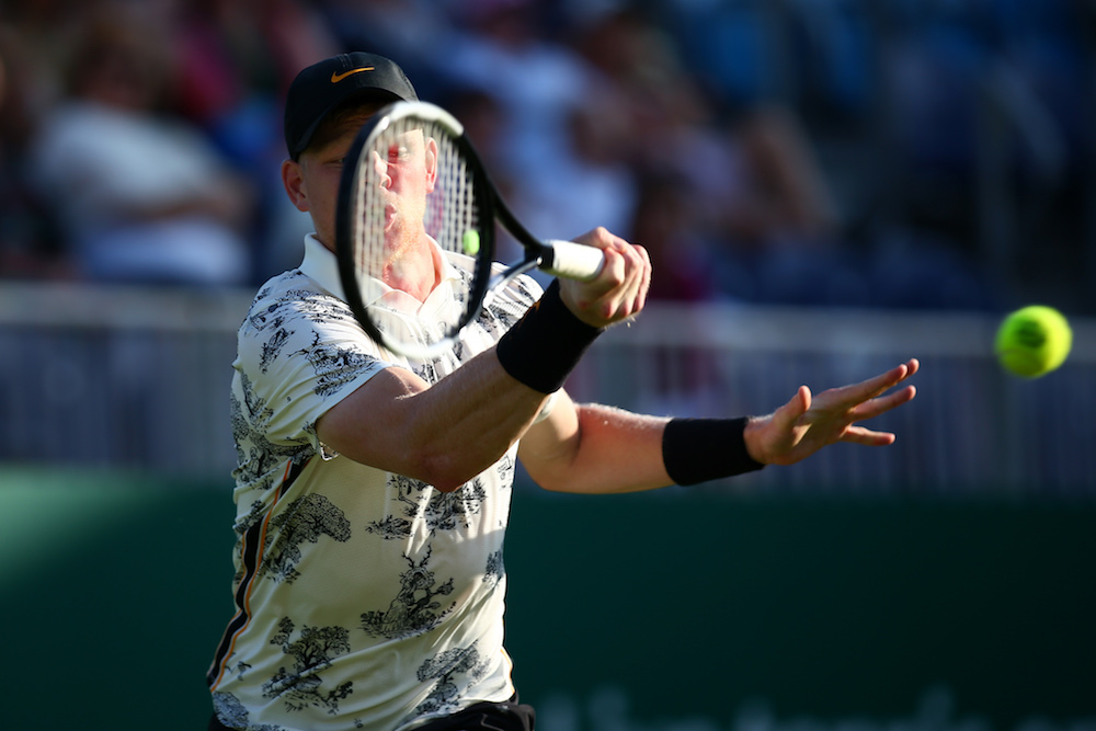 Kyle Edmund in the second round of the Nature Valley International, Eastbourne 2019