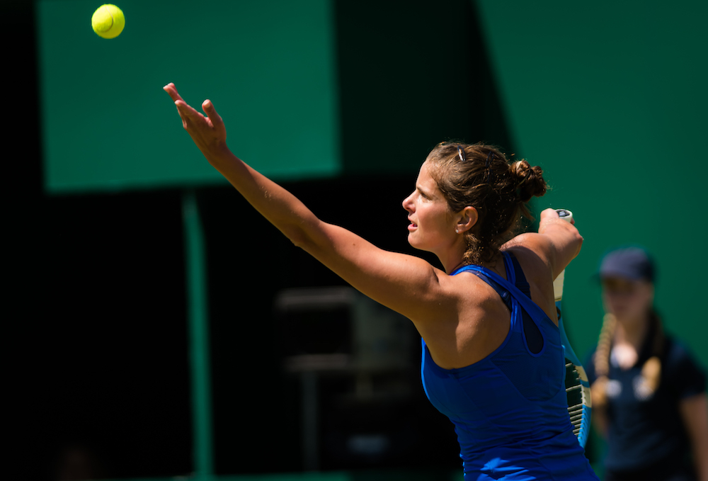 Julia Goerges in the semi-final of the Nature Valley Classic, Birmingham 2019