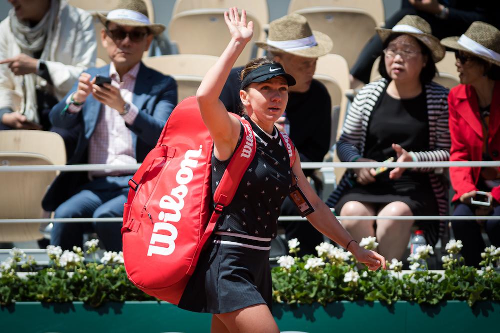 Simona Halep after the quarter-final of Eoland Garros 2019, France