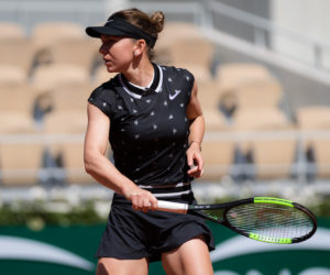 Simona Halep in the third round of Roland Garros 2019, France