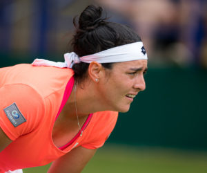 Ons Jabeur in the third round of the Nature Valley International, Eastbourne 2019