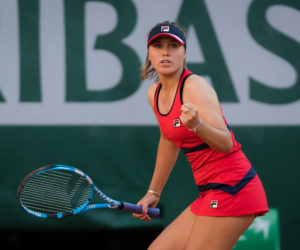 Sofia Kenin in the third round of Roland Garros 2019, France