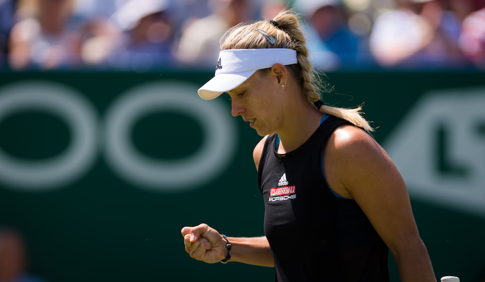 Angelique Kerber in the quarter-final of the Nature Valley International, Eastbourne 2019