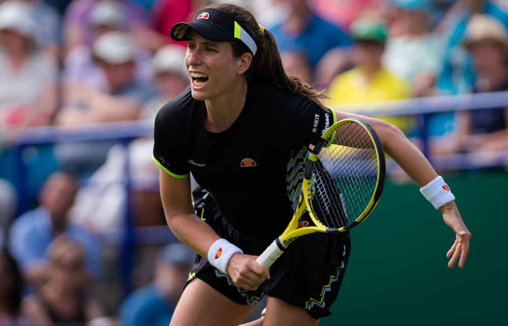 Johanna Konta in the second round of the Nature Valley International, Eastbourne 2019