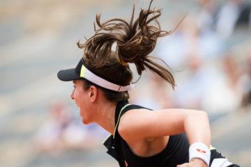 Johanna Konta in the quarter-final of Roland Garros 2019, France