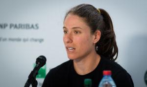 Johanna Konta after the quarter-final of Roland Garros 2019. France