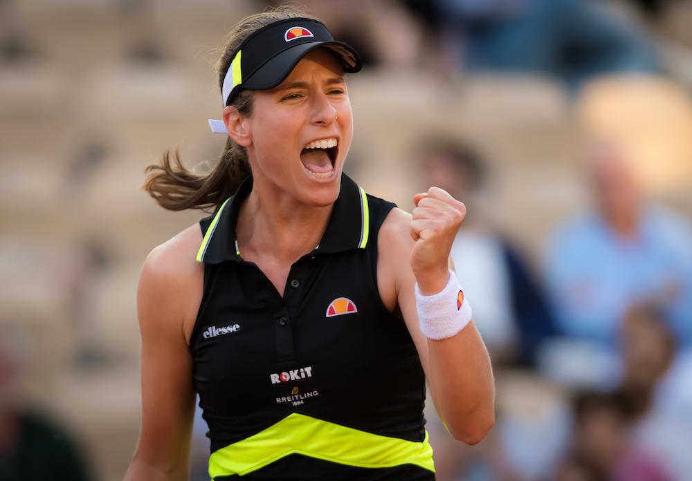 Johanna Konta in the third round of Roland Garros 2019, France
