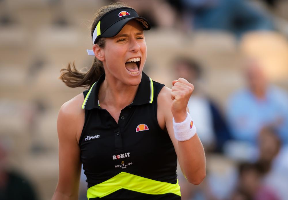 Johanna Konta in the third round of Roland Garros 2019, France
