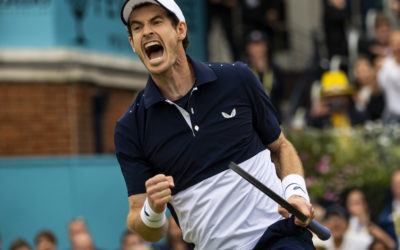Andy Murray in the Doubles Final at the Fever-Tree Championships, London 2019