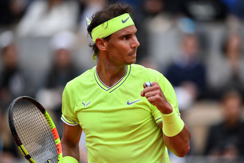 Rafael Nadal in the final of Roland Garros 2019, France