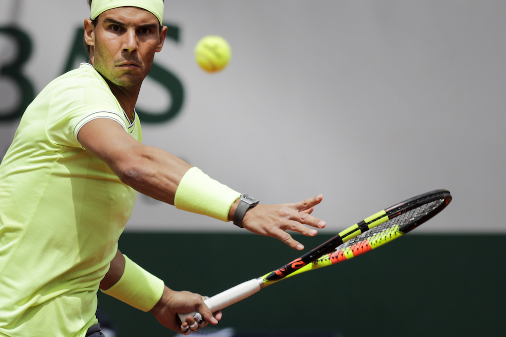 Rafael Nadal in the first round of Roland Garros 2019, France