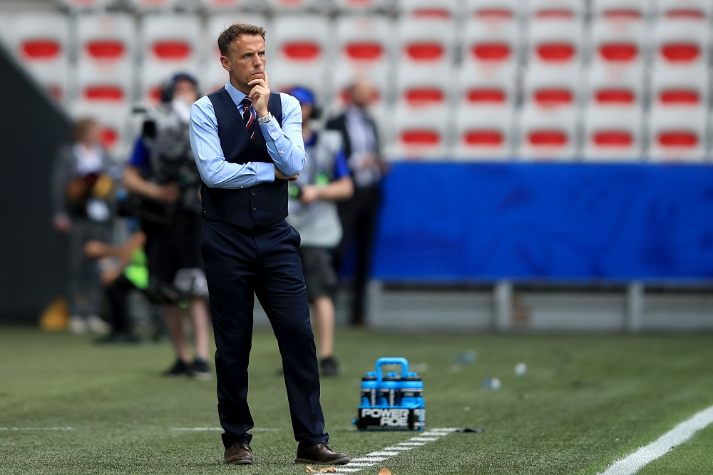 Phil Neville, Head Coach of the England Lionesses, Women's World Cup ENG v SCO 2019