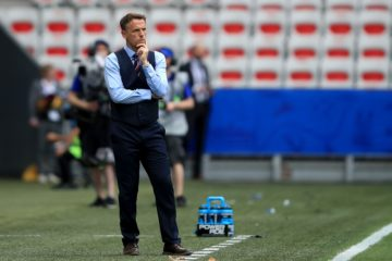 England Lionesses' coach Phil Neville, Women's World Cup 2019 England v Scotland