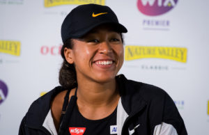 Naomi Osaka after her first round win at the Nature Valley Classic, Birmingham 2019