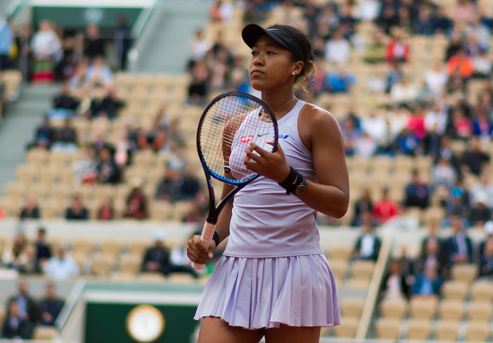 Naomi Osaka in the second round of Roland Garros 2019, France