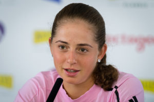 Jelena Ostapenko after the first round of the Nature Valley Classic, Birmingham 2019
