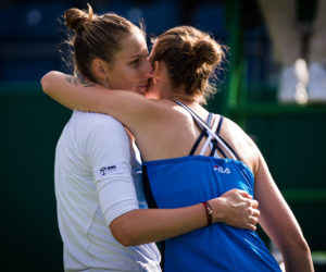 Kristyna (l) and Karolina (r) Pliskova after the second round of the Nature Valley Classic, Birmingham 2019