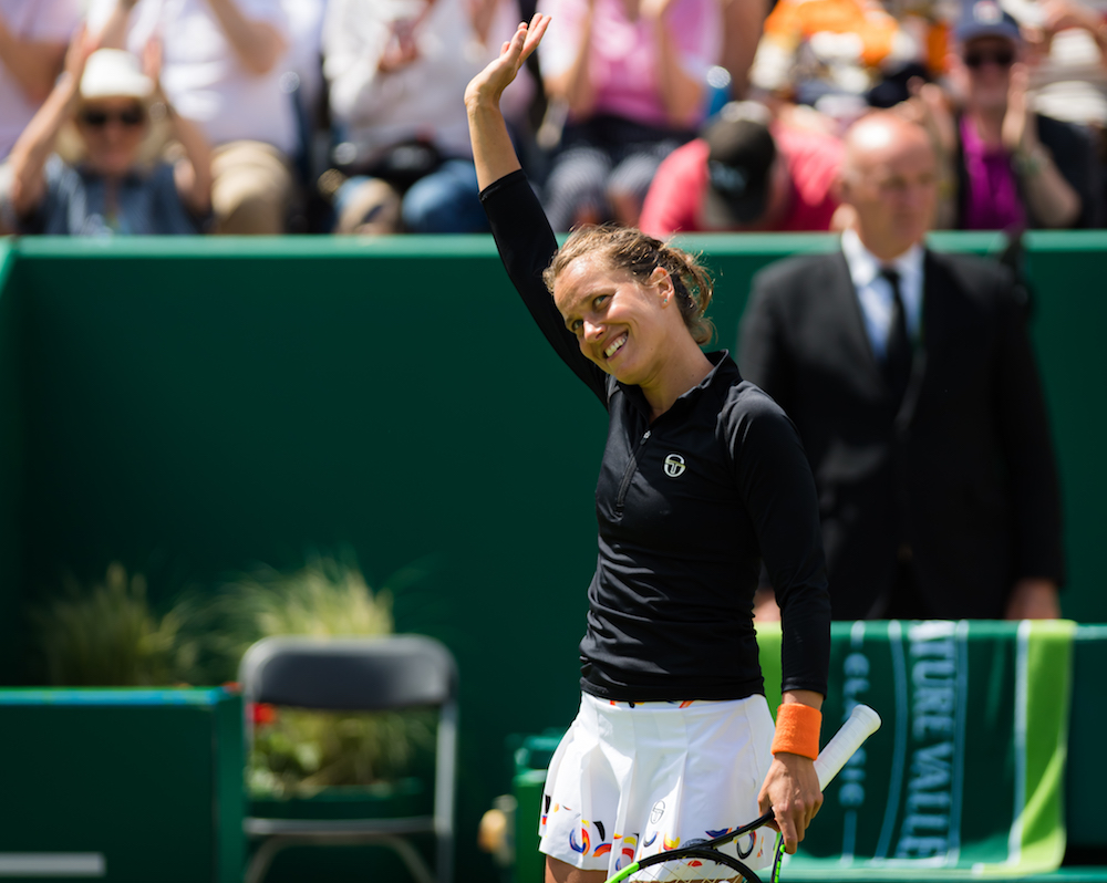 Barbora Strycova in the quarter-final of the Nature Valley Classic, Birmingham 2019