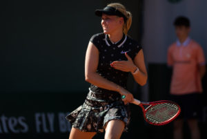 Donna Vekic in the third round of Roland Garros 2019, France