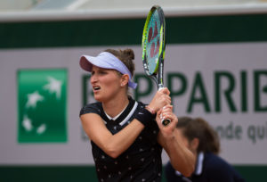 Marketa Vondrousova in the third round of Roland Garros 2019, France