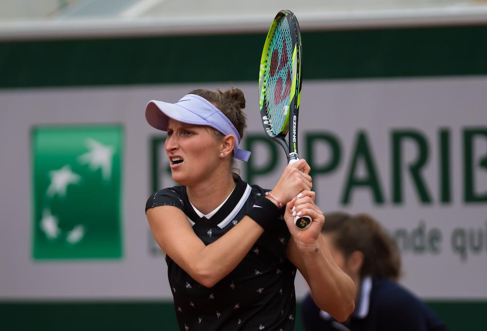 Marketa Vondrousova in the third round of Roland Garros 2019, France
