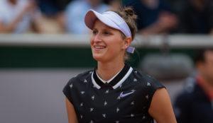Marketa Vondrousova in the semi-final of Roland Garros 2019, France
