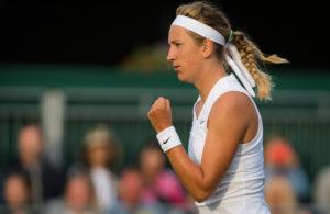 Victoria Azarenka in the first round of Wimbledon 2019