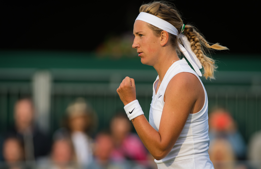 Victoria Azarenka in the first round of Wimbledon 2019