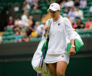 Ashleigh Barty in the first round of Wimbledon 2019